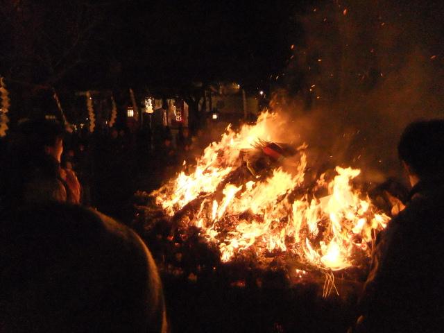 愛宕神社のどんと祭