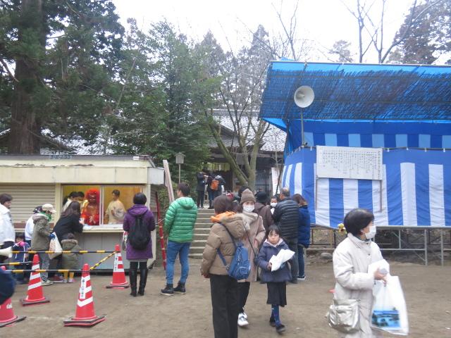 大崎八幡宮節分祭が終わっていた