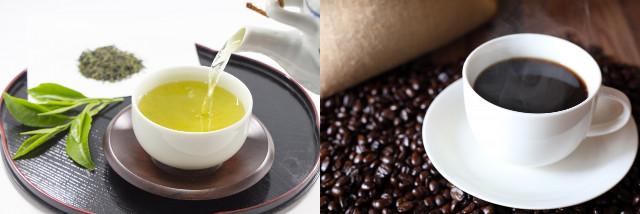 べにふうき茶とコーヒーのカフェイン量