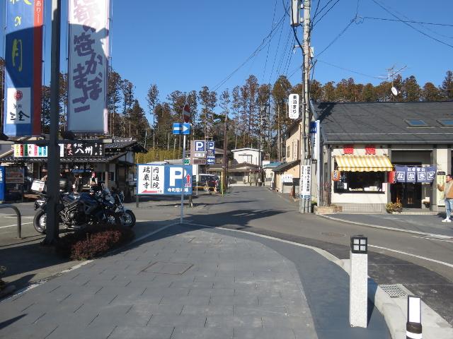 松島寺町駐車場に入る道