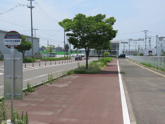 仙台空港松島平泉線の水族館バス停