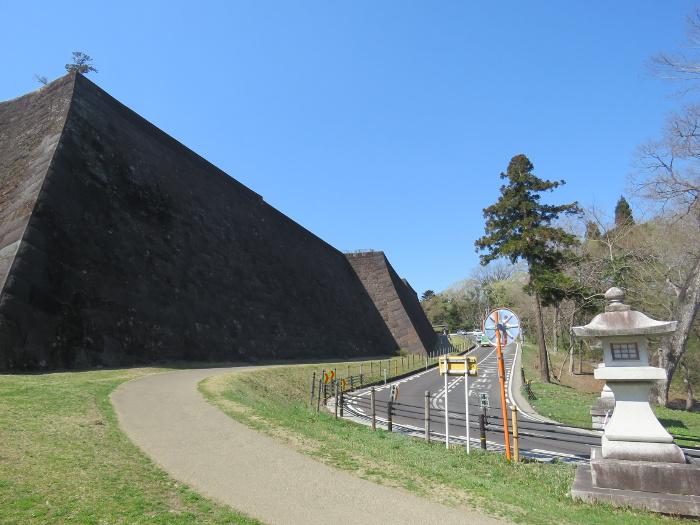 仙台城北側石垣