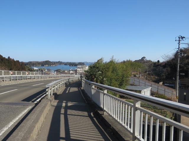 無料駐車場から松島へ向かう1