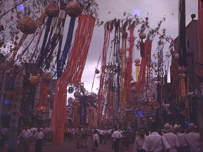 昭和28年の仙台七夕の写真1