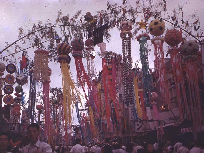 昭和28年の仙台七夕の写真2