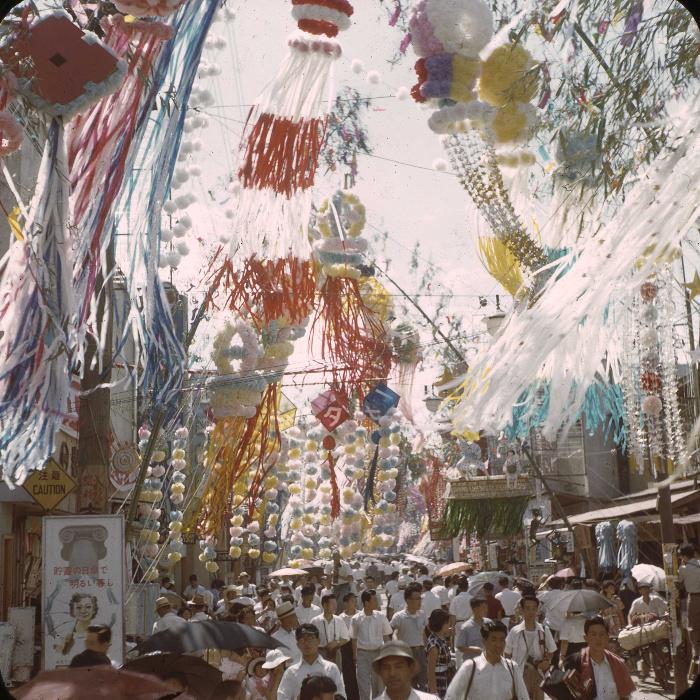 昭和29年の仙台七夕の写真2
