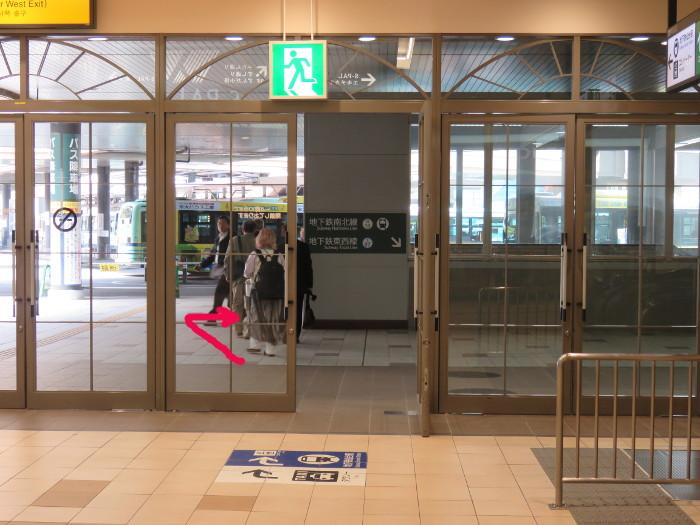 JR仙台駅から地下鉄仙台駅へ写真5