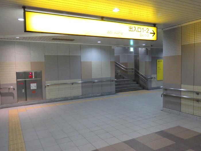仙台駅2階から地下道→シャトルバス乗場へ9