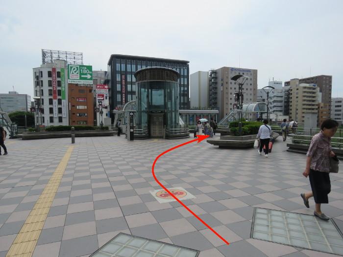 仙台駅から仙台アンパンマンミュージアムまでの道順写真5
