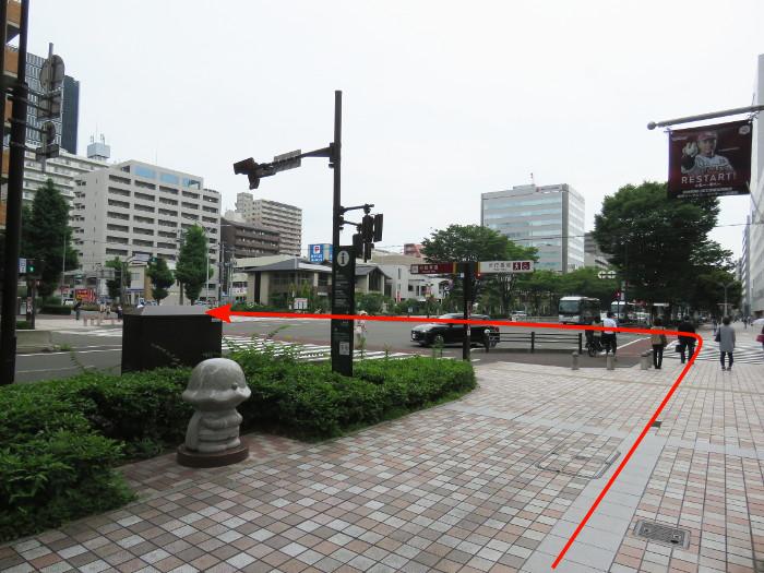 仙台駅から仙台アンパンマンミュージアムまでの道順写真10