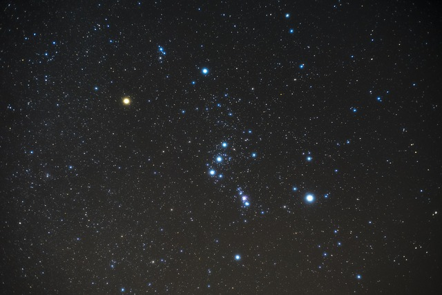 オリオン座流星群の放射点があるオリオン座