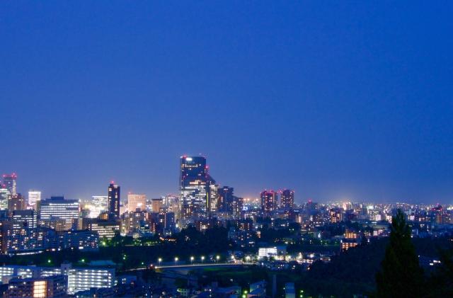 仙台市の夜景
