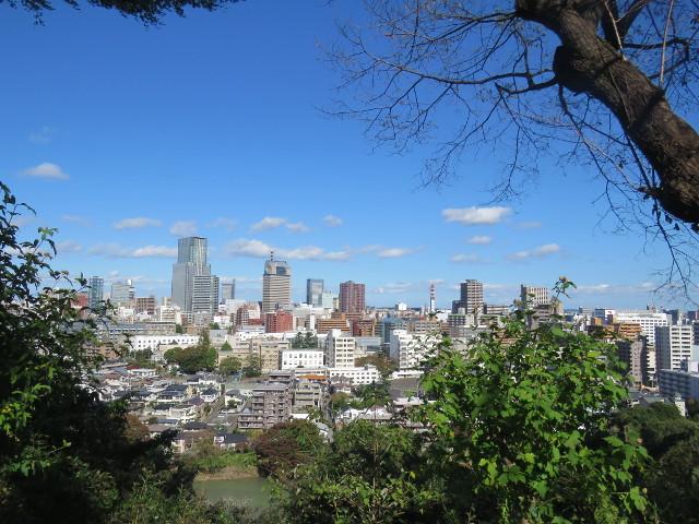 愛宕神社からの仙台市街のながめ
